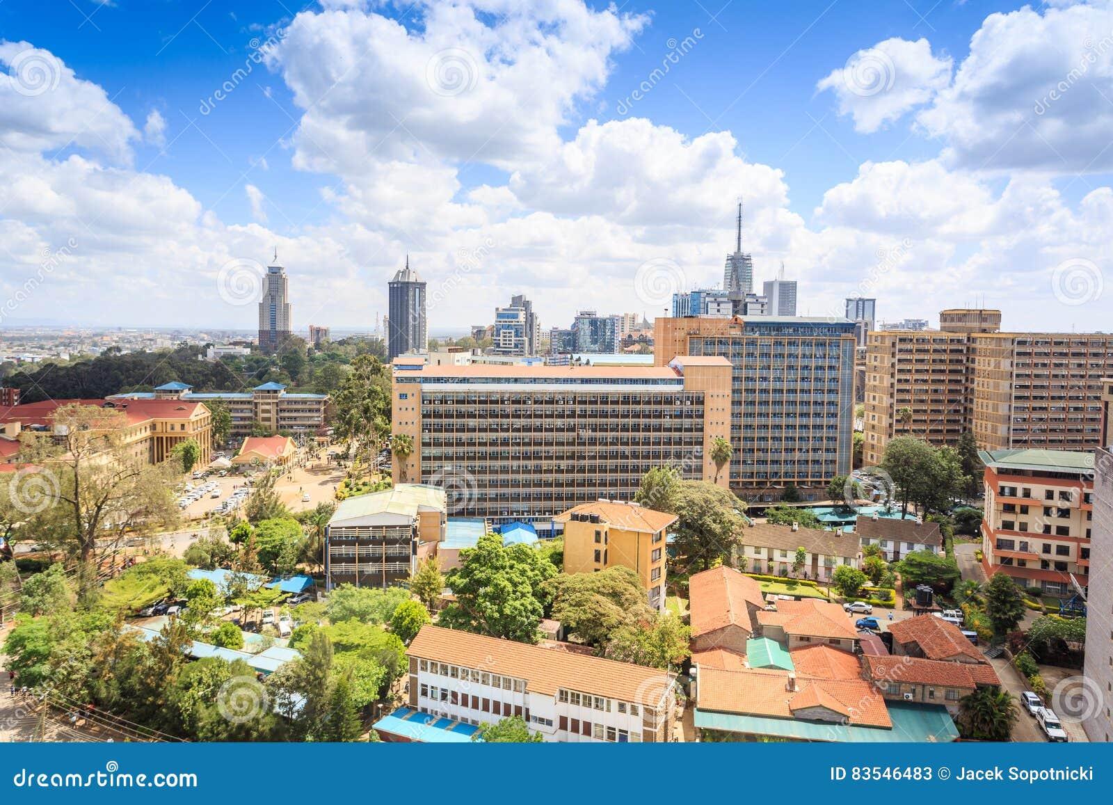 Nairobia pejzaż miejski - stolica Kenja