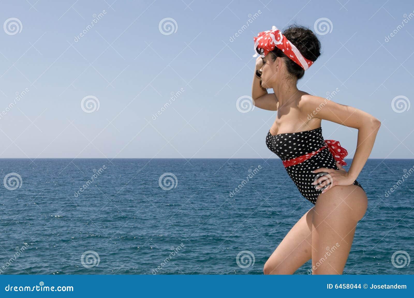 Najbliższa morska kopii pin seksowną przestrzeń na kobiety