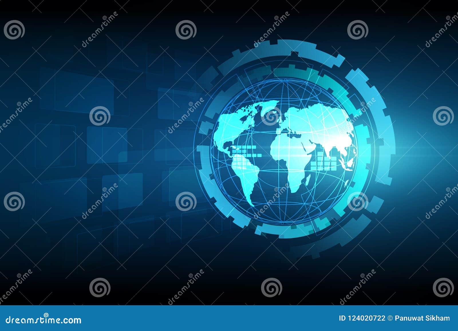 Najlepszego biznesowego pojęcia globalni internety Kula ziemska, jarzy się linie o