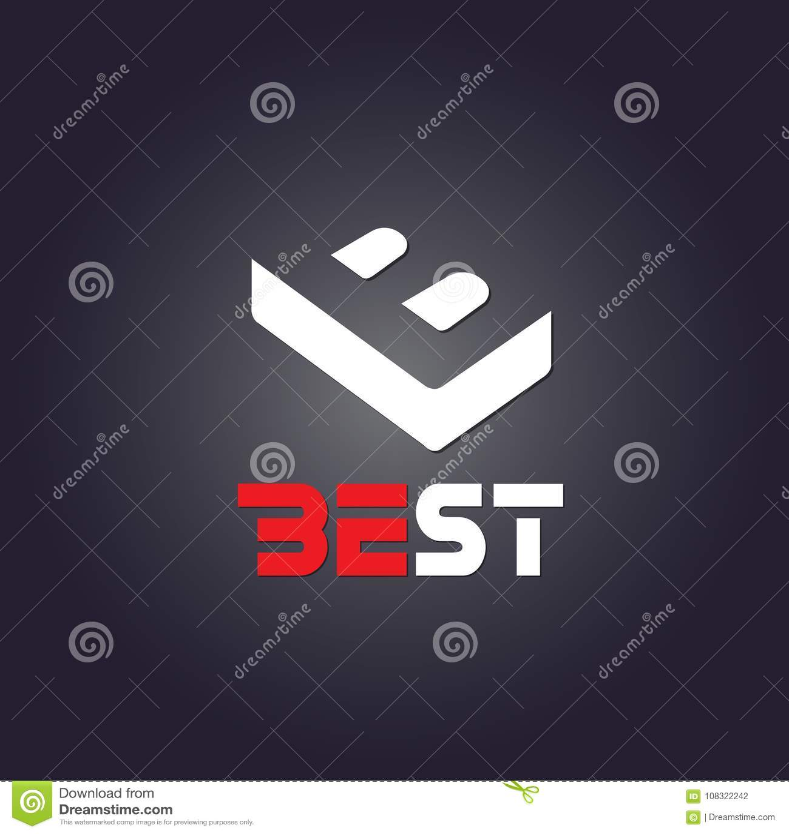 Najlepszy loga czerni tło projekt