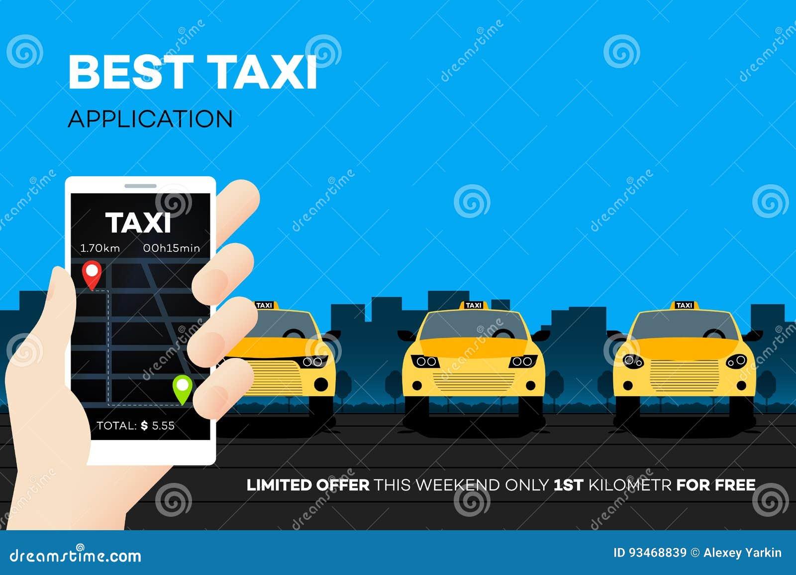 Najlepszy taxi wiszącej ozdoby zastosowanie Reklamowa Wektorowa ilustracja