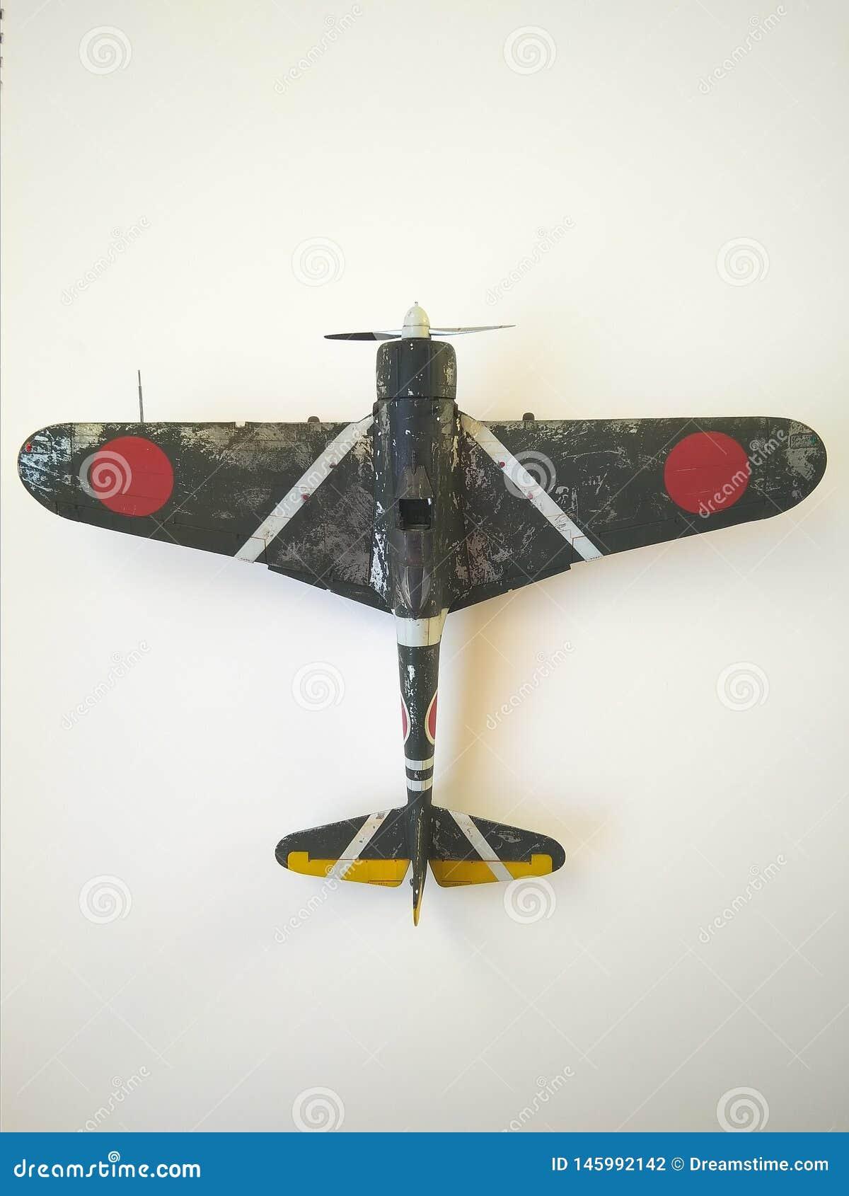 Nakajima Ki-43 Hayabusa model fighter