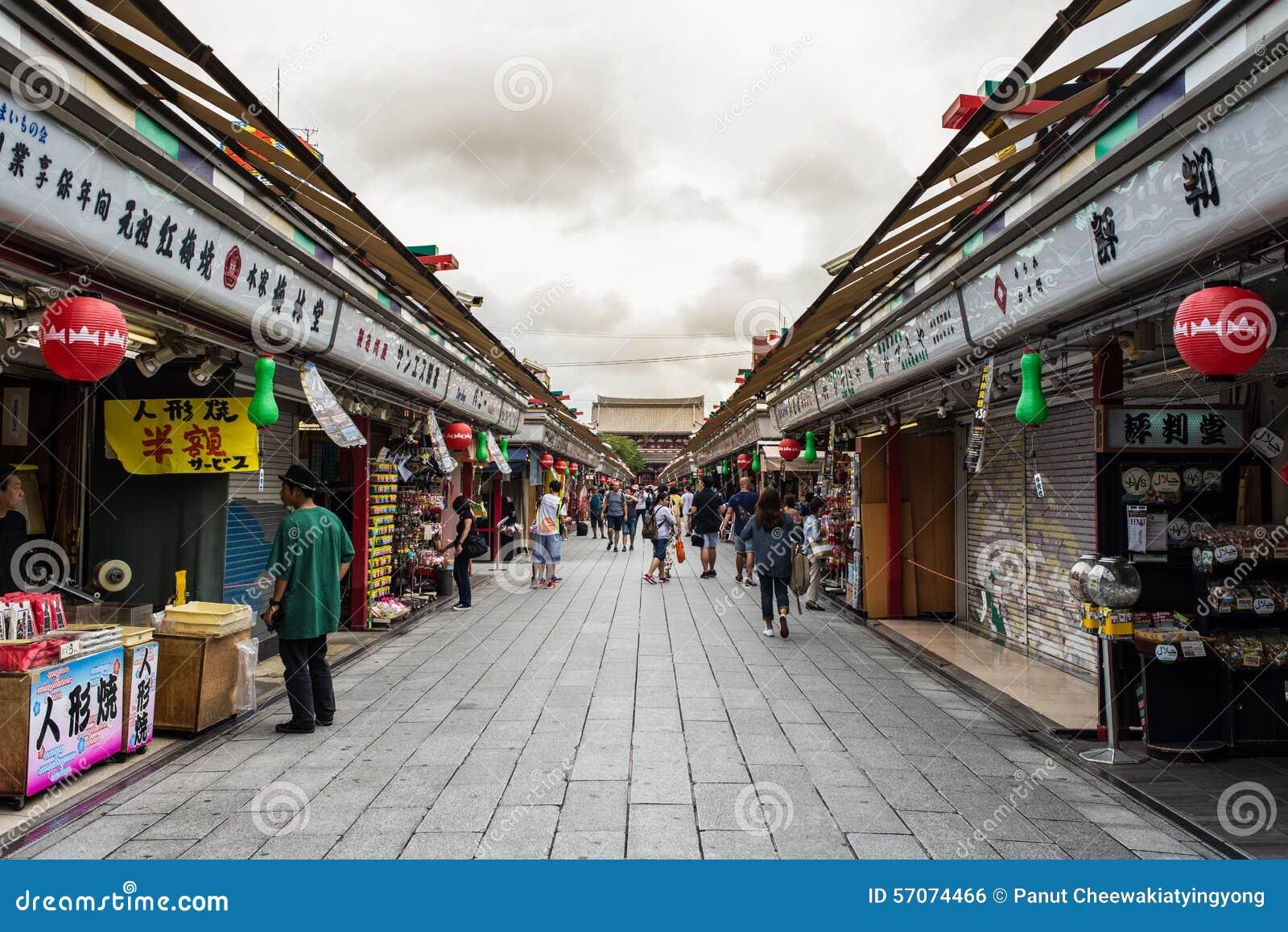 Nakamise, een het winkelen straat