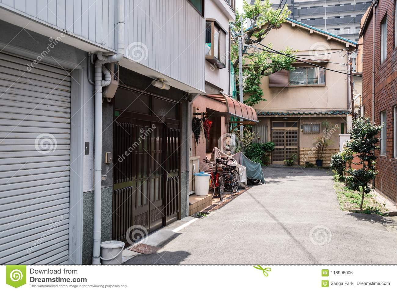 nakazaki cho street in osaka japan stock photo image of home rh dreamstime com