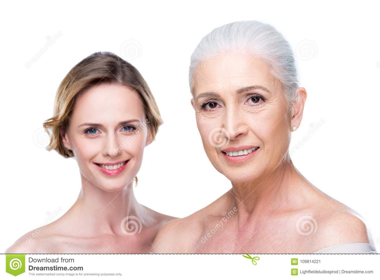 Naked Adult Daughter And Mother Stock Image - Image of