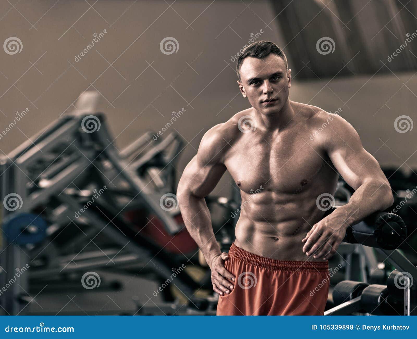 Ang Naked naked athletic bodybuilder stock photo. image of abdomen