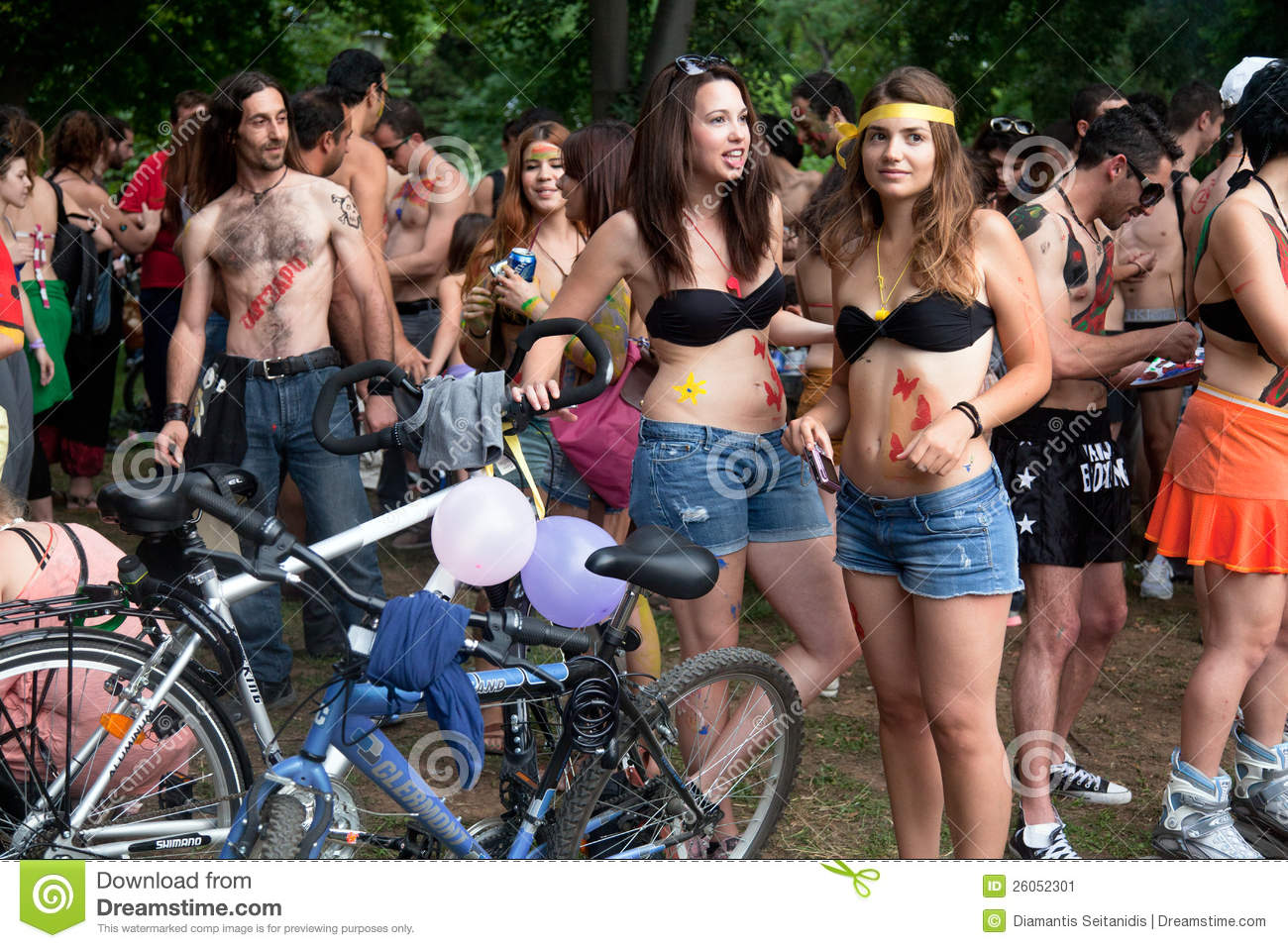 Know pictures of nudist bike protesters thank