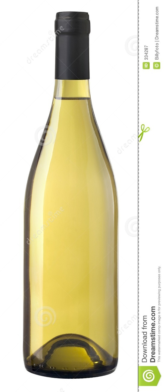 Naked Bottle Of Chardonnay Wine Royalty Free Stock