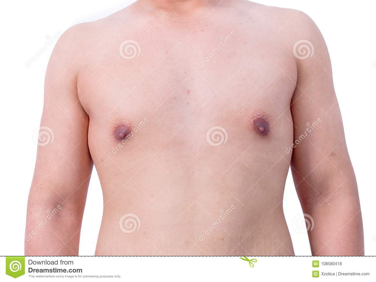 Male naked chest
