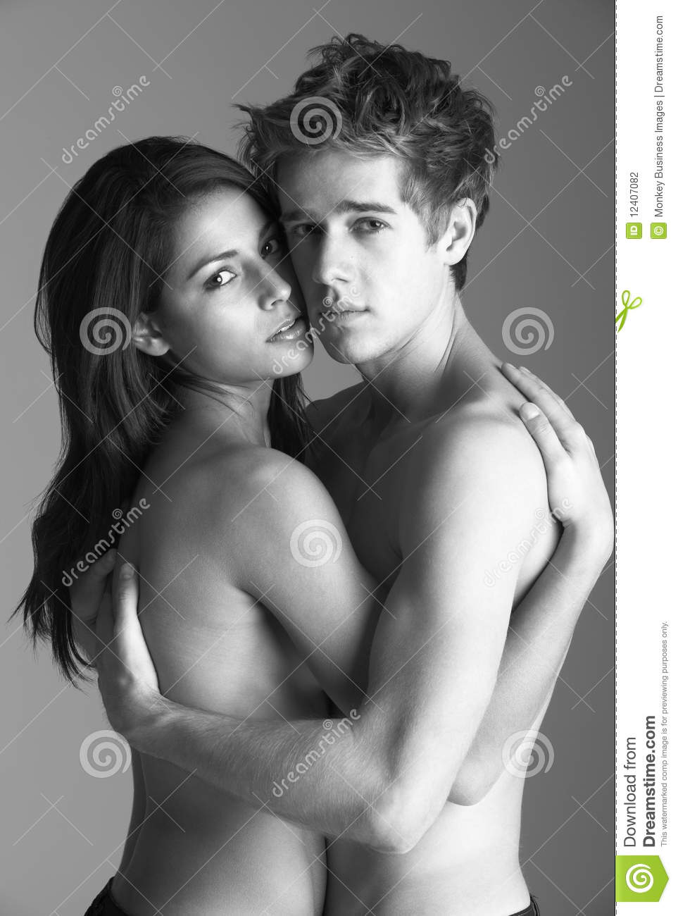 Nude Couples Black White 20