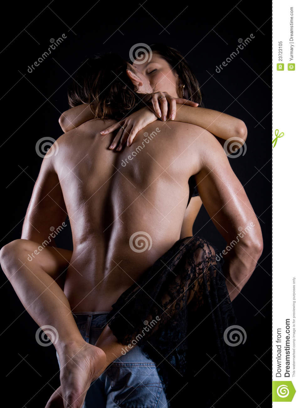 man behind woman position