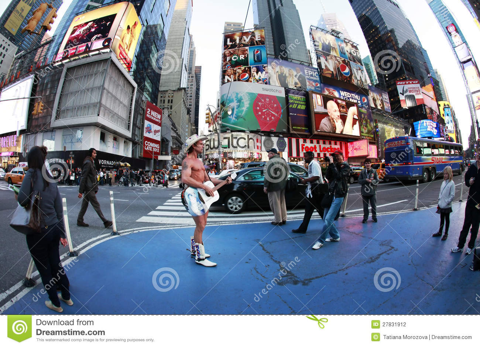 Naked Cowboy, Dollar Business 9_13 Editorial Photo - Image