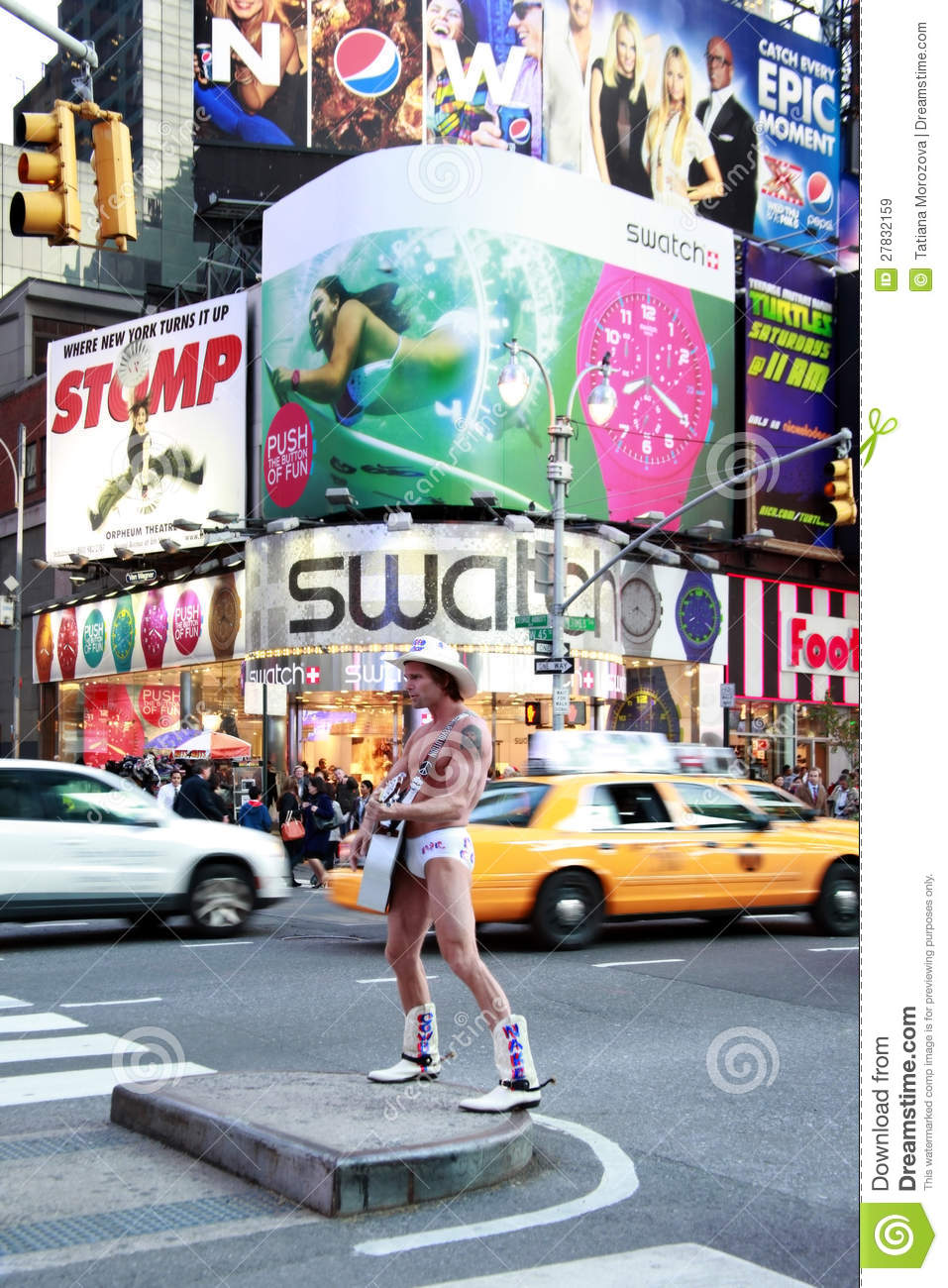 Naked Cowboy Editorial Stock Image - Image 27832159-4350