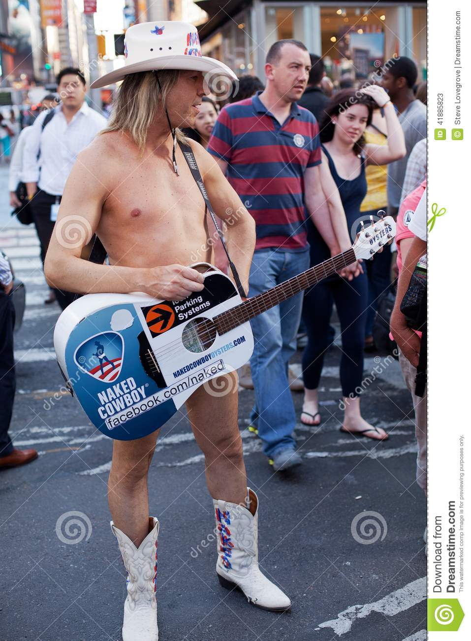 Naked Cowboy On Times Square New York Stock Photo