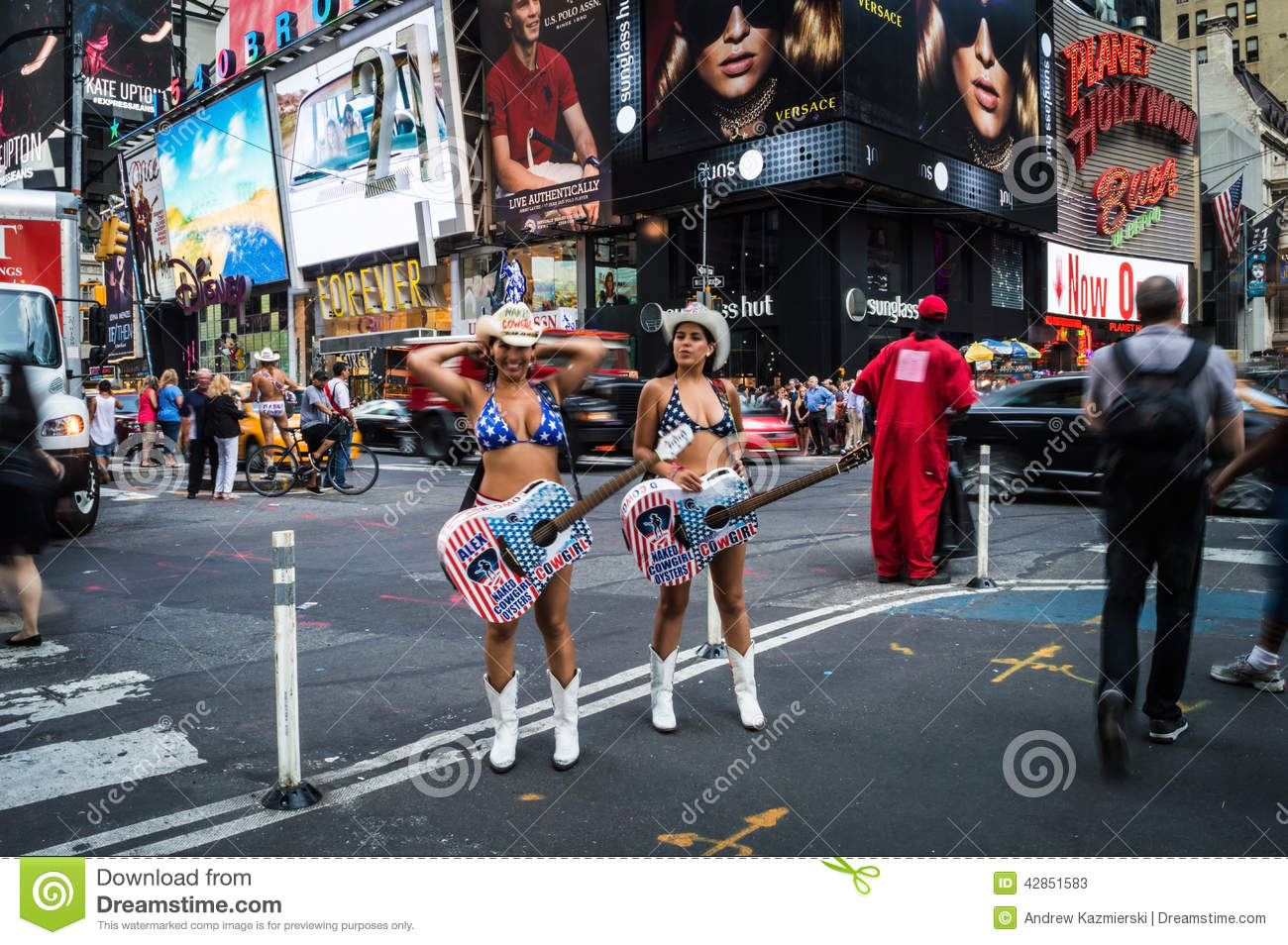 Naked Cowgirls Times Square Editorial Stock Photo - Image 42851583-6679