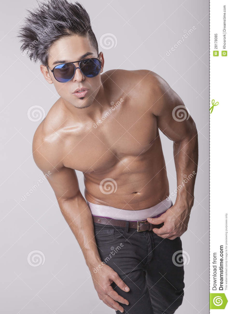 Handsome Naked Muscular Male Body Stock Photo - Image of