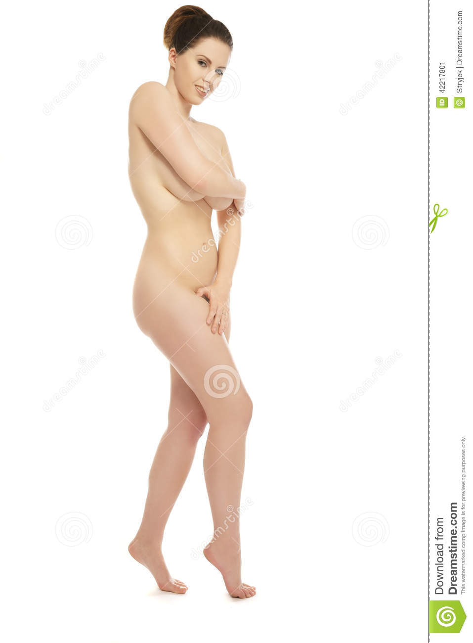naked girl covering parts