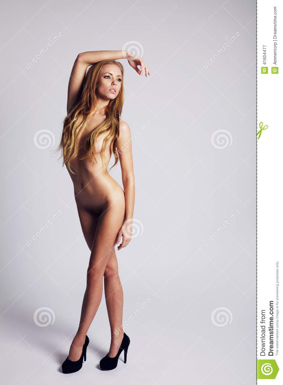 Nude women wearing heels