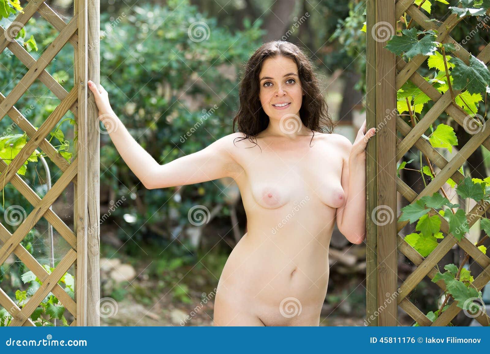 phot series of girls naked in backyard