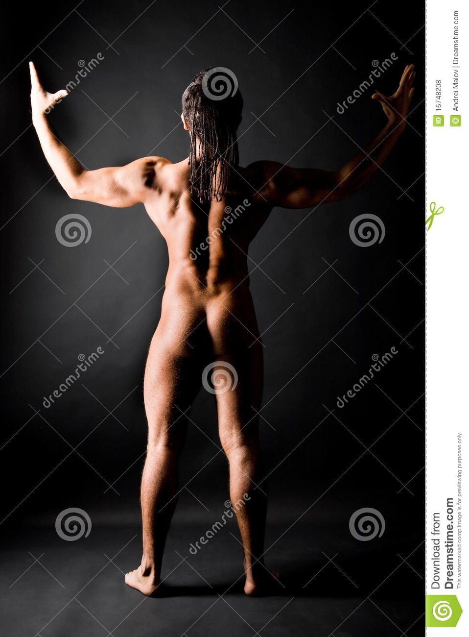 Dude with dreads naked