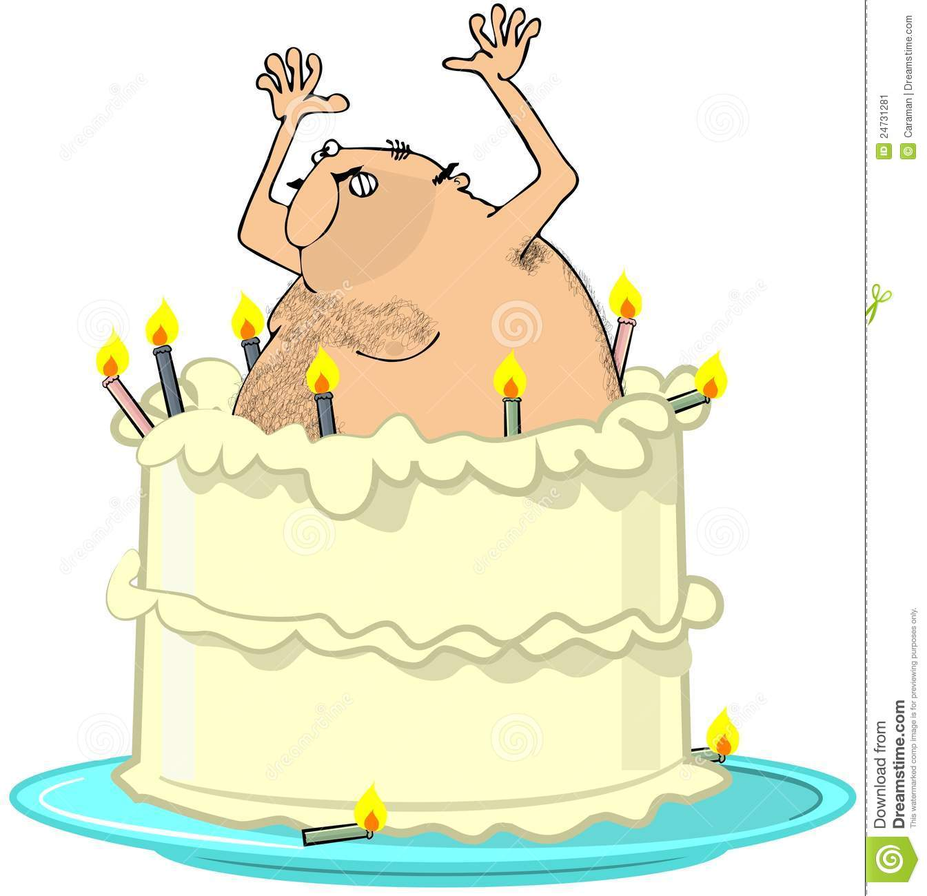 Jumping Out Of Birthday Cake
