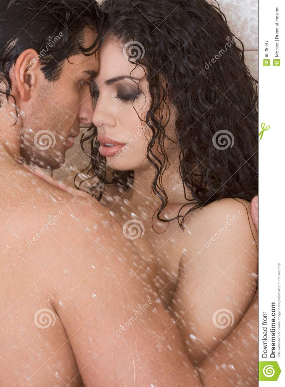 Think, naked lady and man kissing