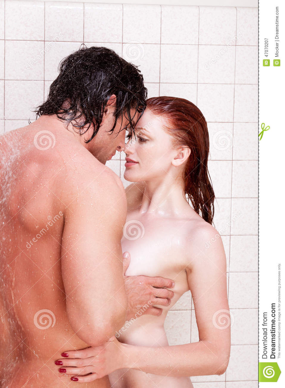 man and woman in love naked