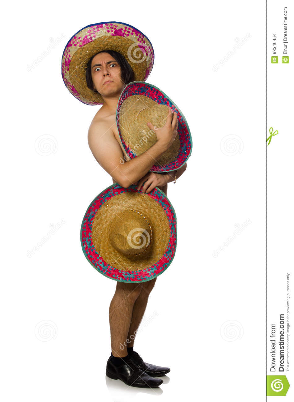 The naked mexican man isolated on white