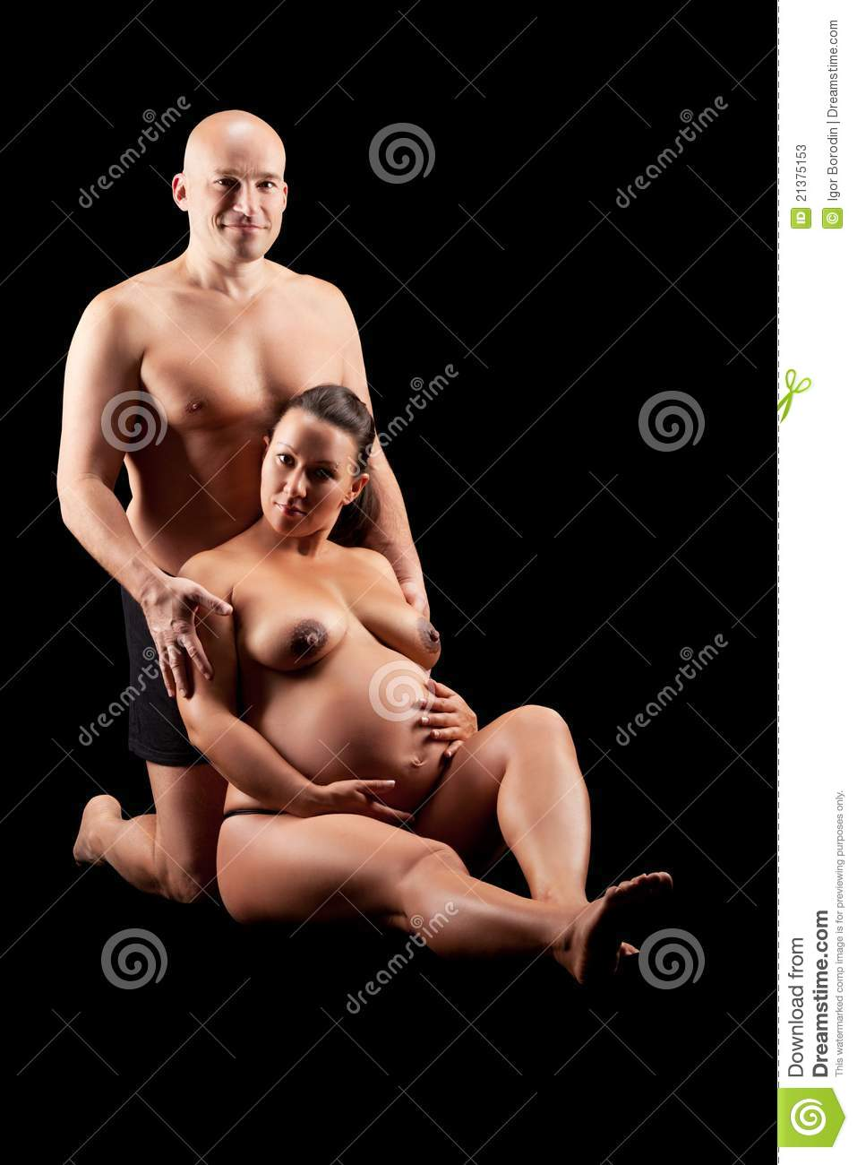 Nude of husband pregnant wife