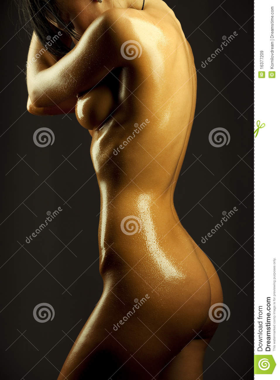 Are naked woman covered in Tell