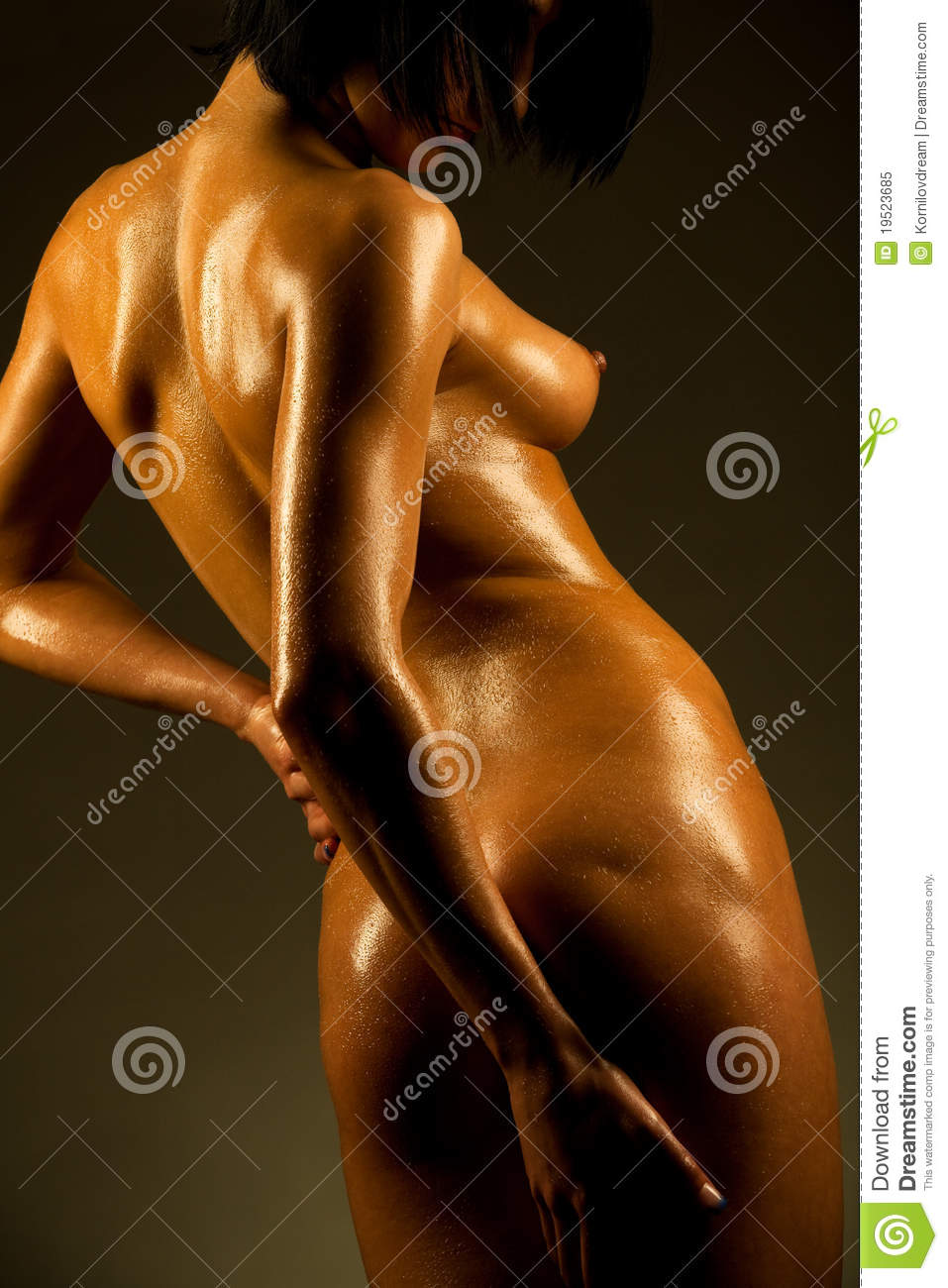 pictures of men naked covered in oil