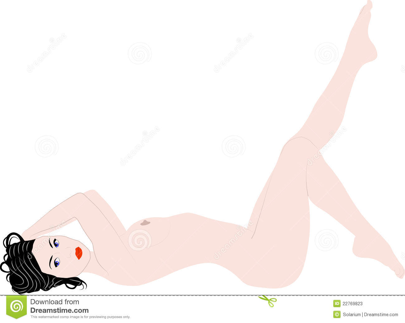 Naked woman stock vector. Illustration of naked, drawings ...