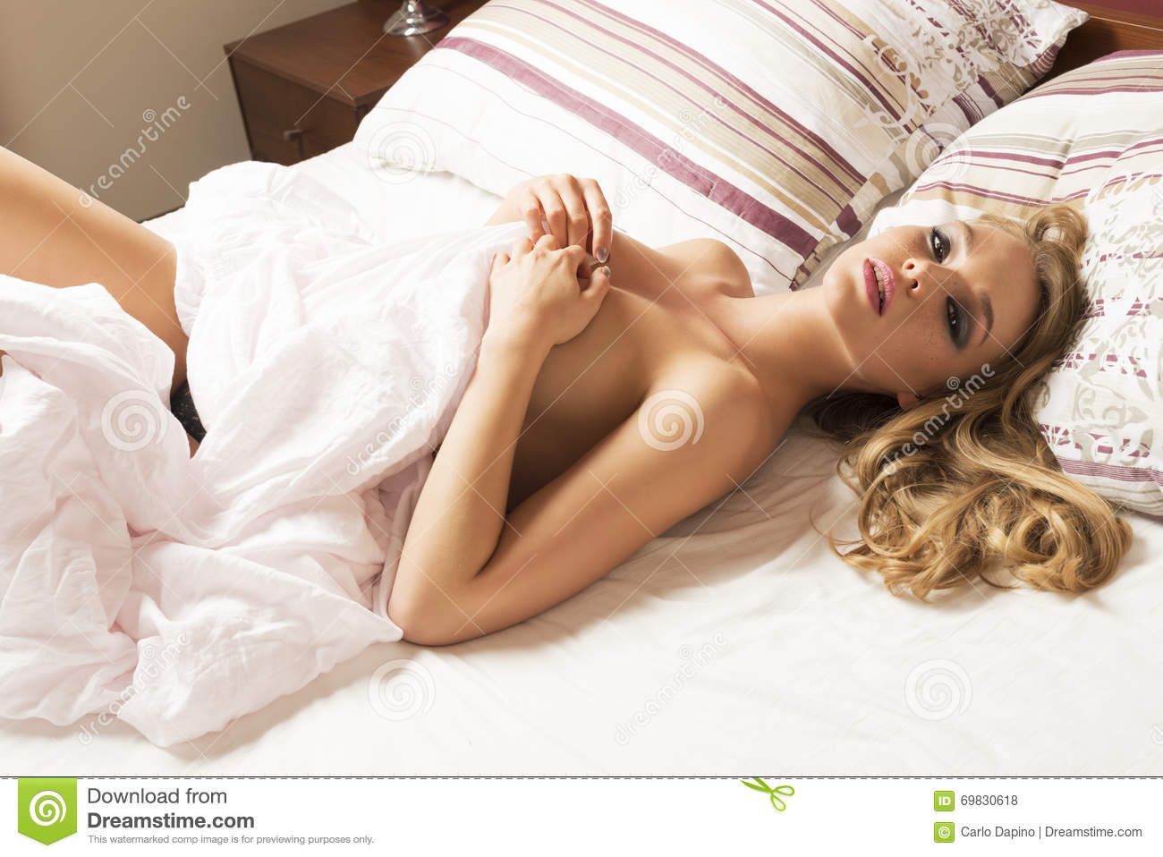 Naked Woman On Bed Stock Photo Image Of Lady, Naked -6103