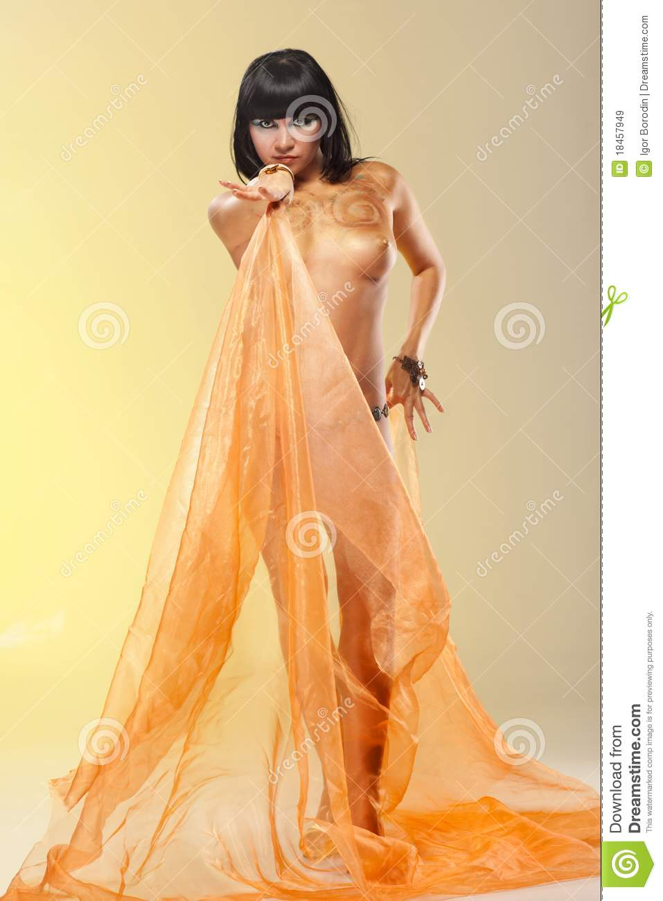 royalty free stock photo portrait naughty woman cleopatra style image