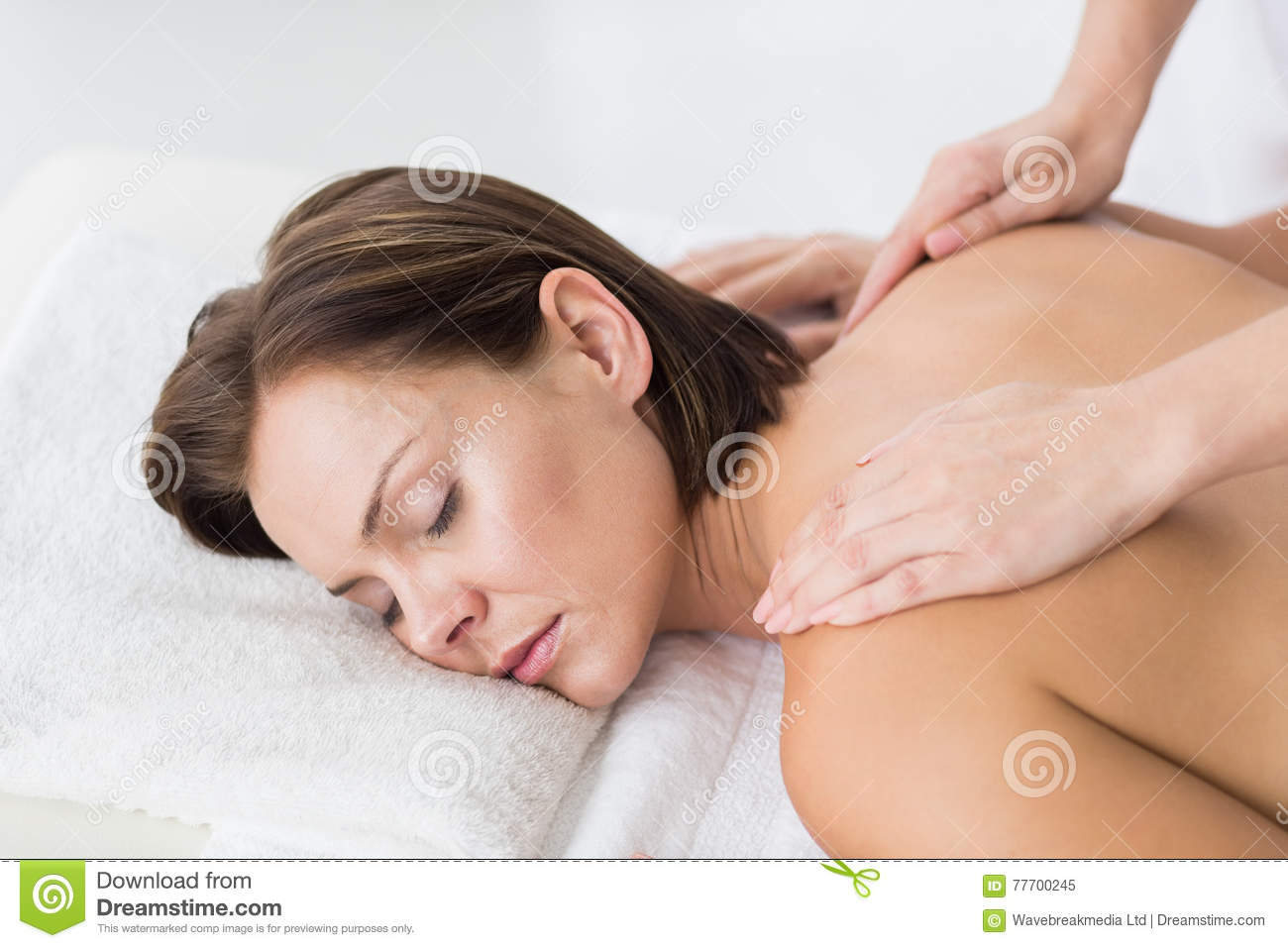woman on table Naked massage