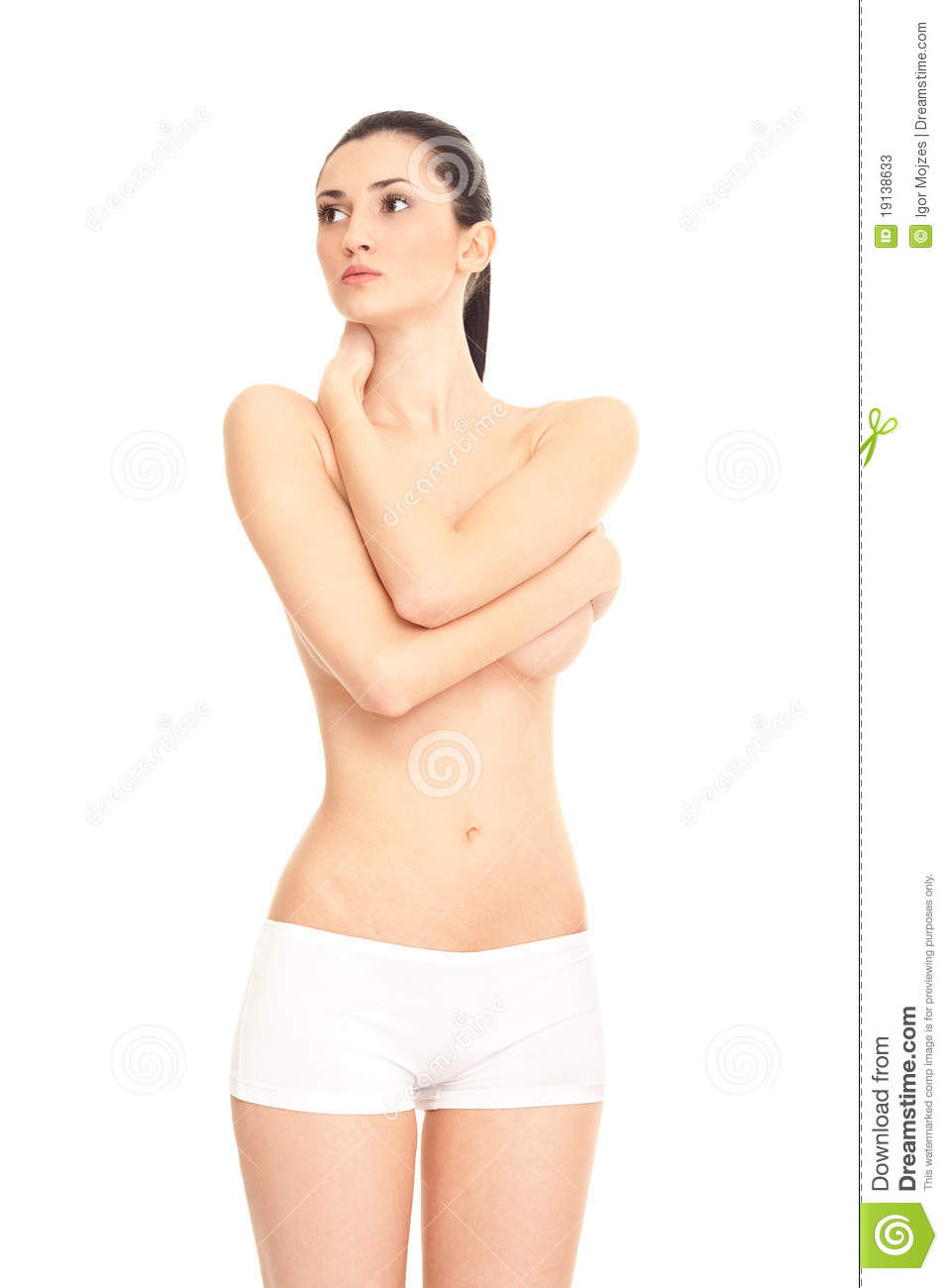 Naked woman relaxing