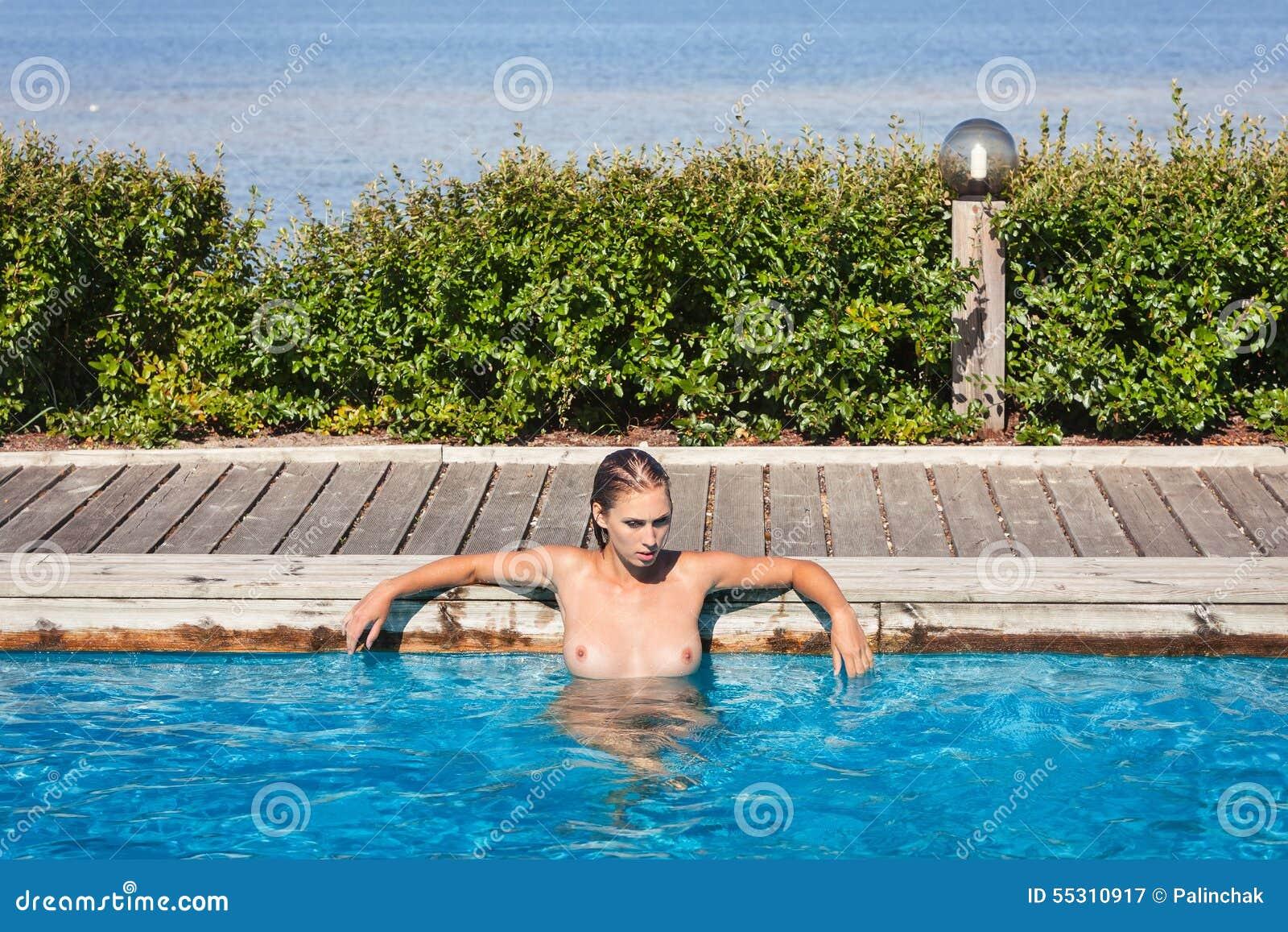 Pool in swimming nude women