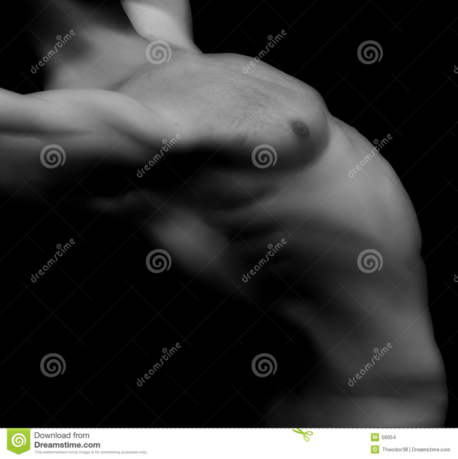 Nakenstudie för 13 manlig