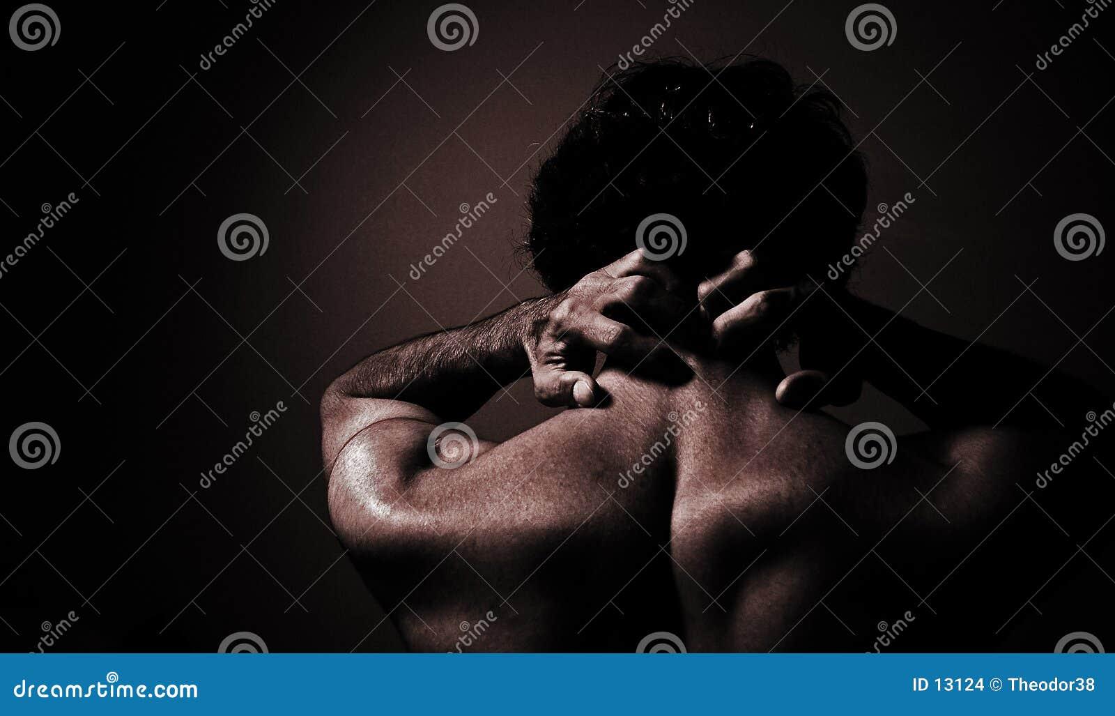 Nakenstudie för 3 manlig