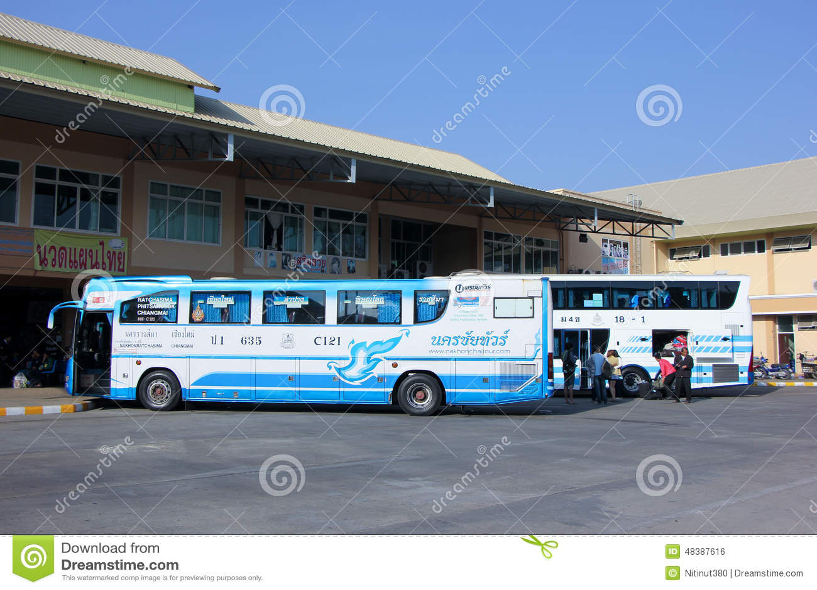 Nakhonchai tour editorial photo image 48387616 for Mercedes benz tour bus
