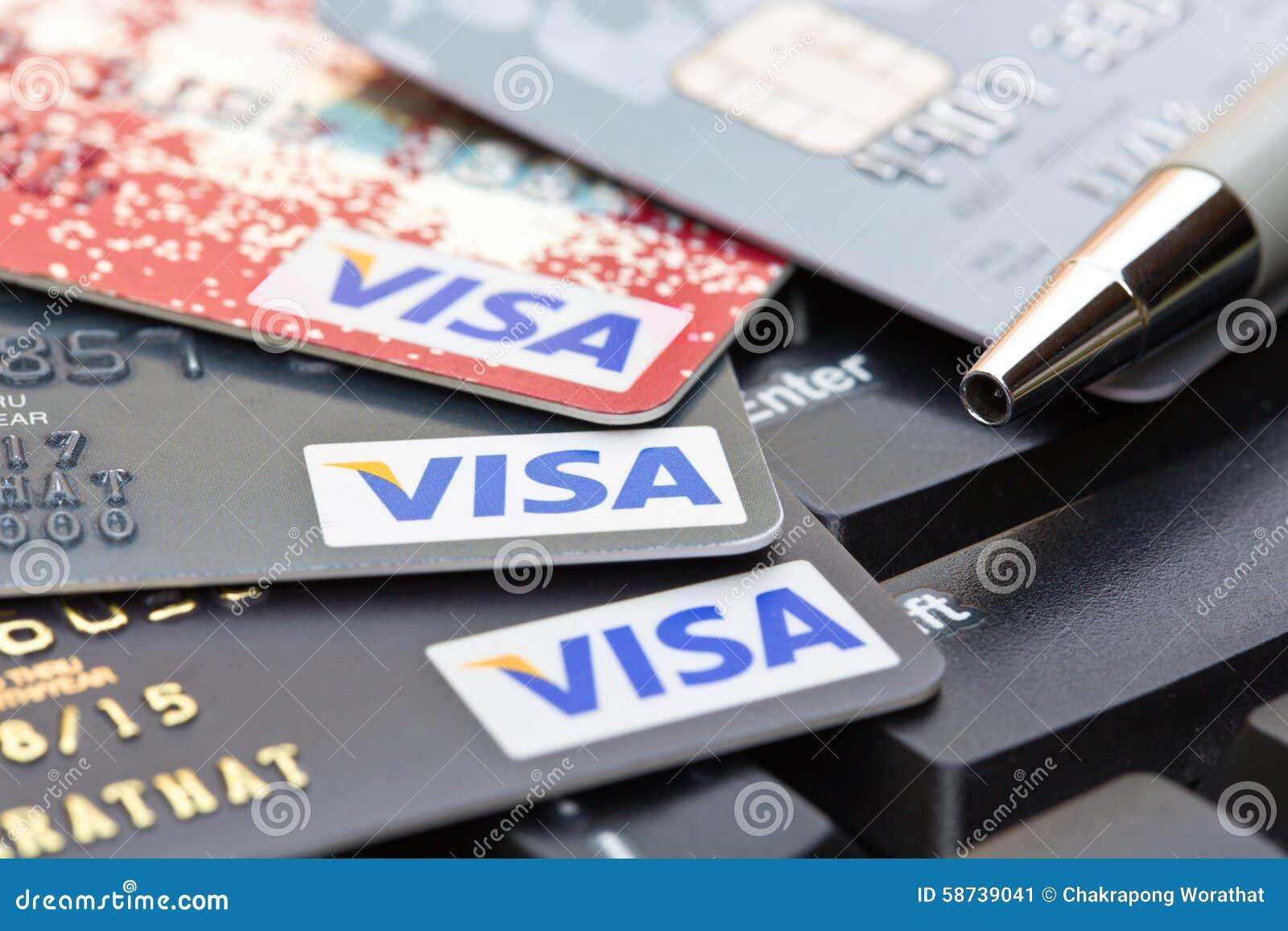 Nakhonratchasima thailand august 1 2015 credit card visa b nakhonratchasima thailand august 1 2015 credit card visa b editorial stock photo biocorpaavc Choice Image