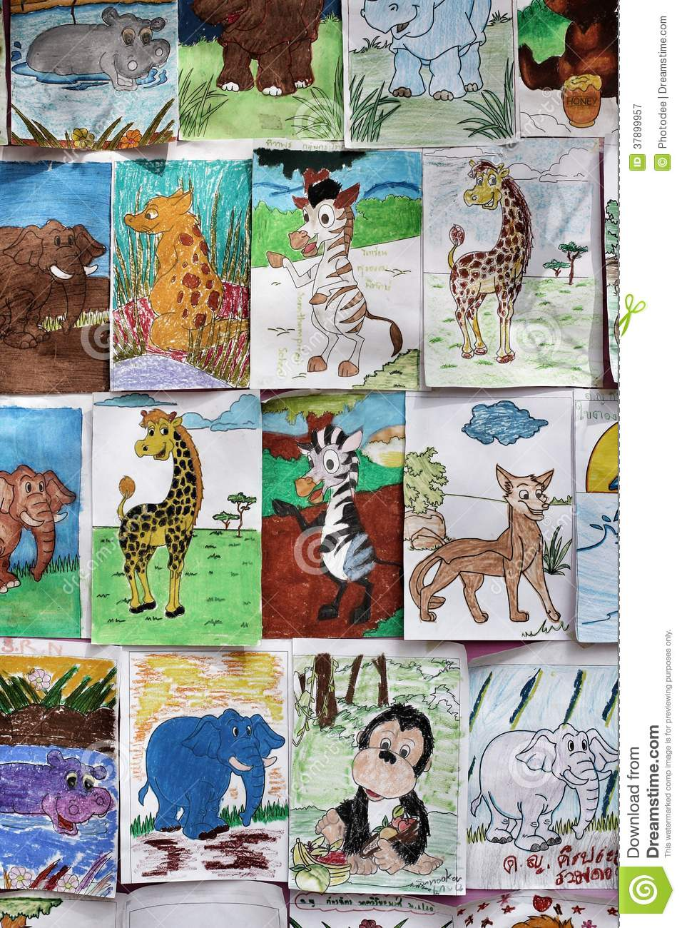 Nakhonratchasima Thailand  city images : NAKHONRATCHASIMA , THAILAND JANUARY 5,2014 : Animal drawing contest ...