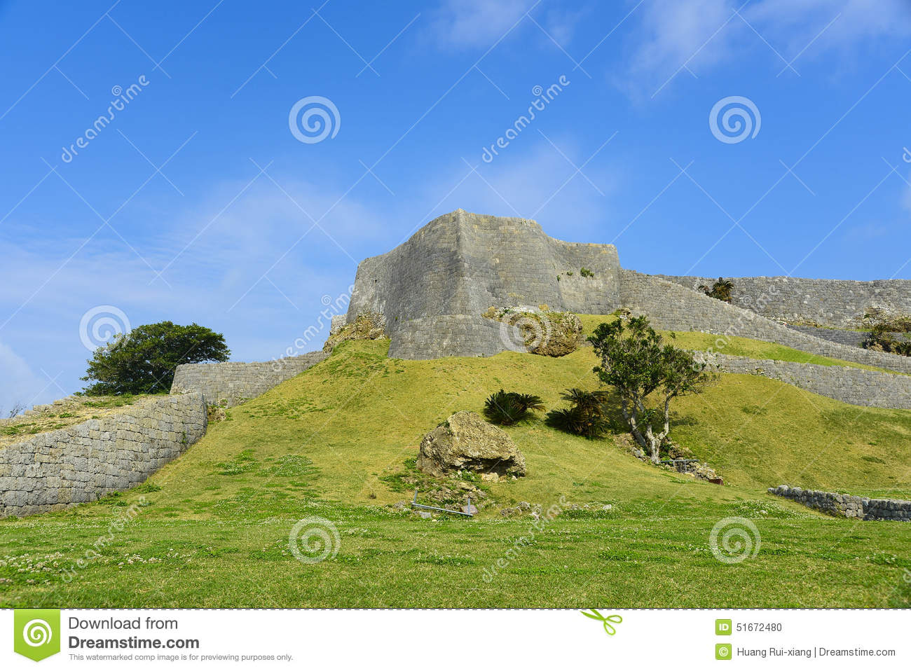 Nakijin Castle Remains In OKINAWA Stock Photo - Image: 51672480