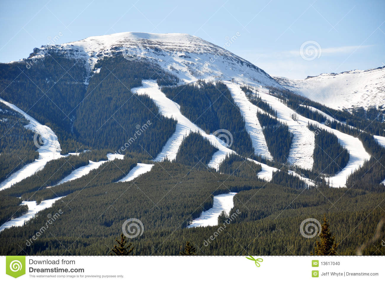nakiska ski area stock photo. image of nature, area, mountains