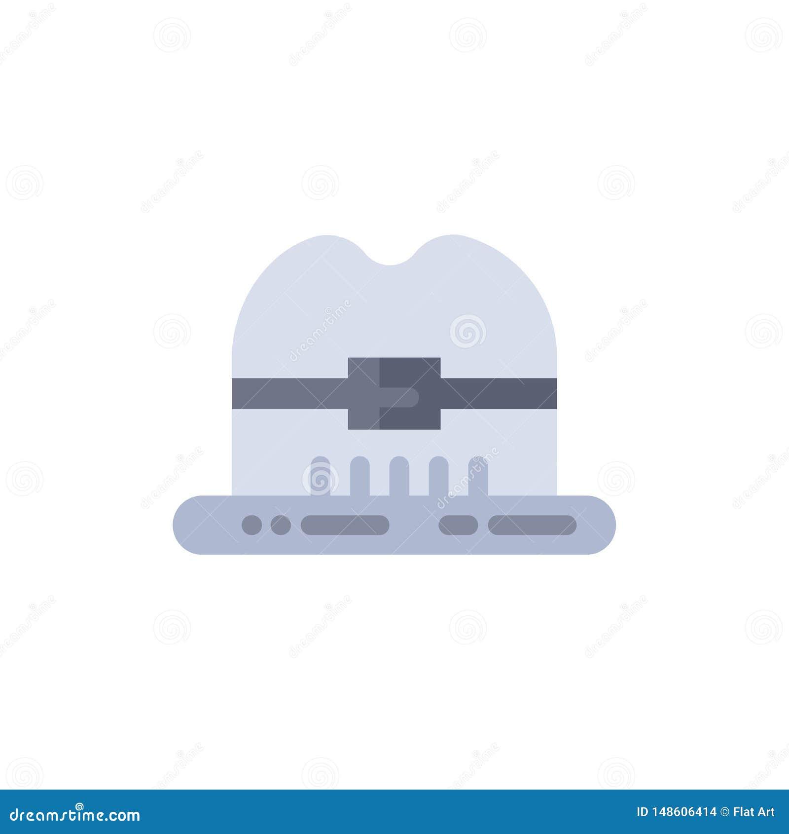 Nakrętka, kapelusz, Kanada koloru Płaska ikona Wektorowy ikona sztandaru szablon