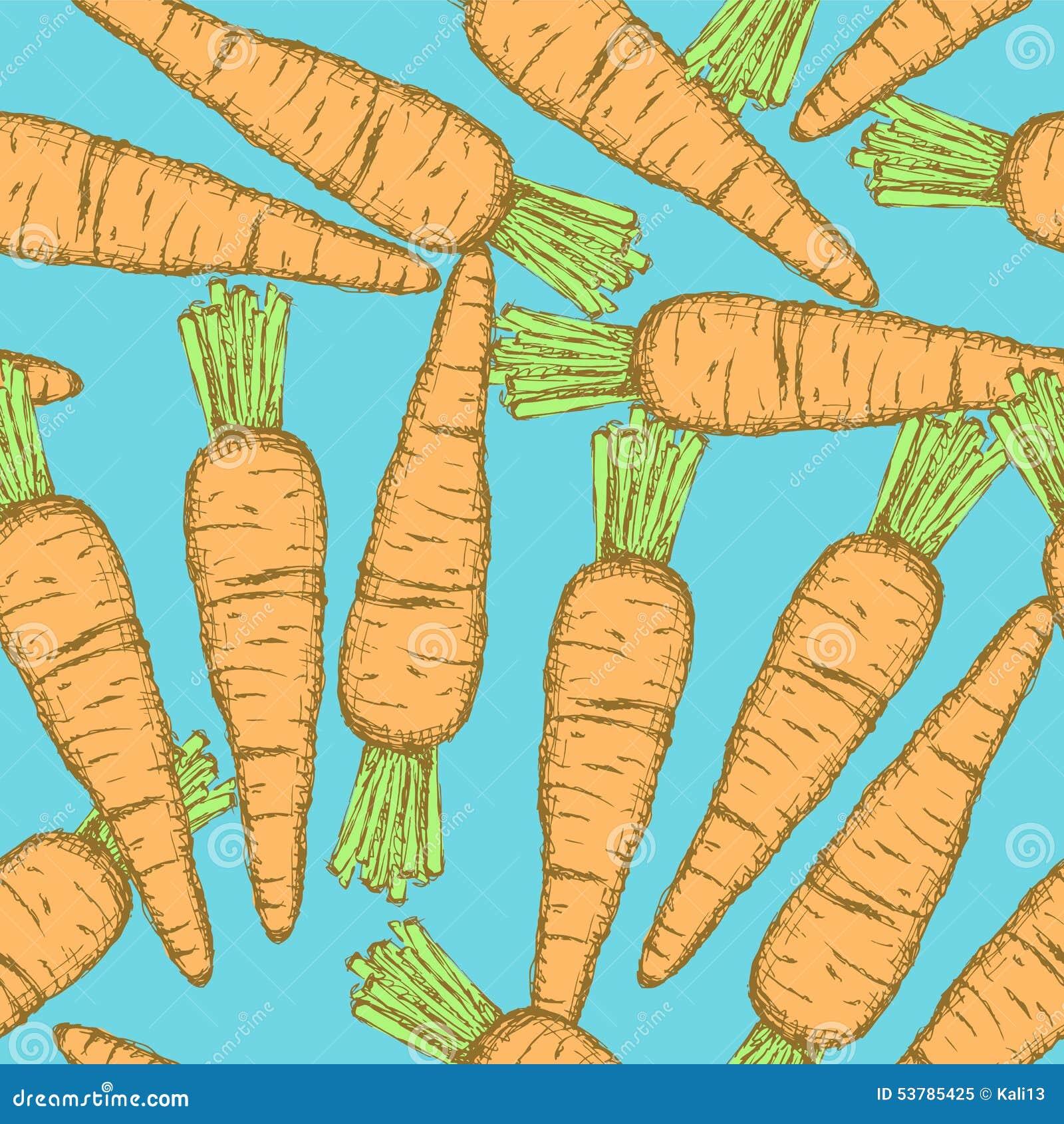 Nakreślenie smakowita marchewka w rocznika stylu
