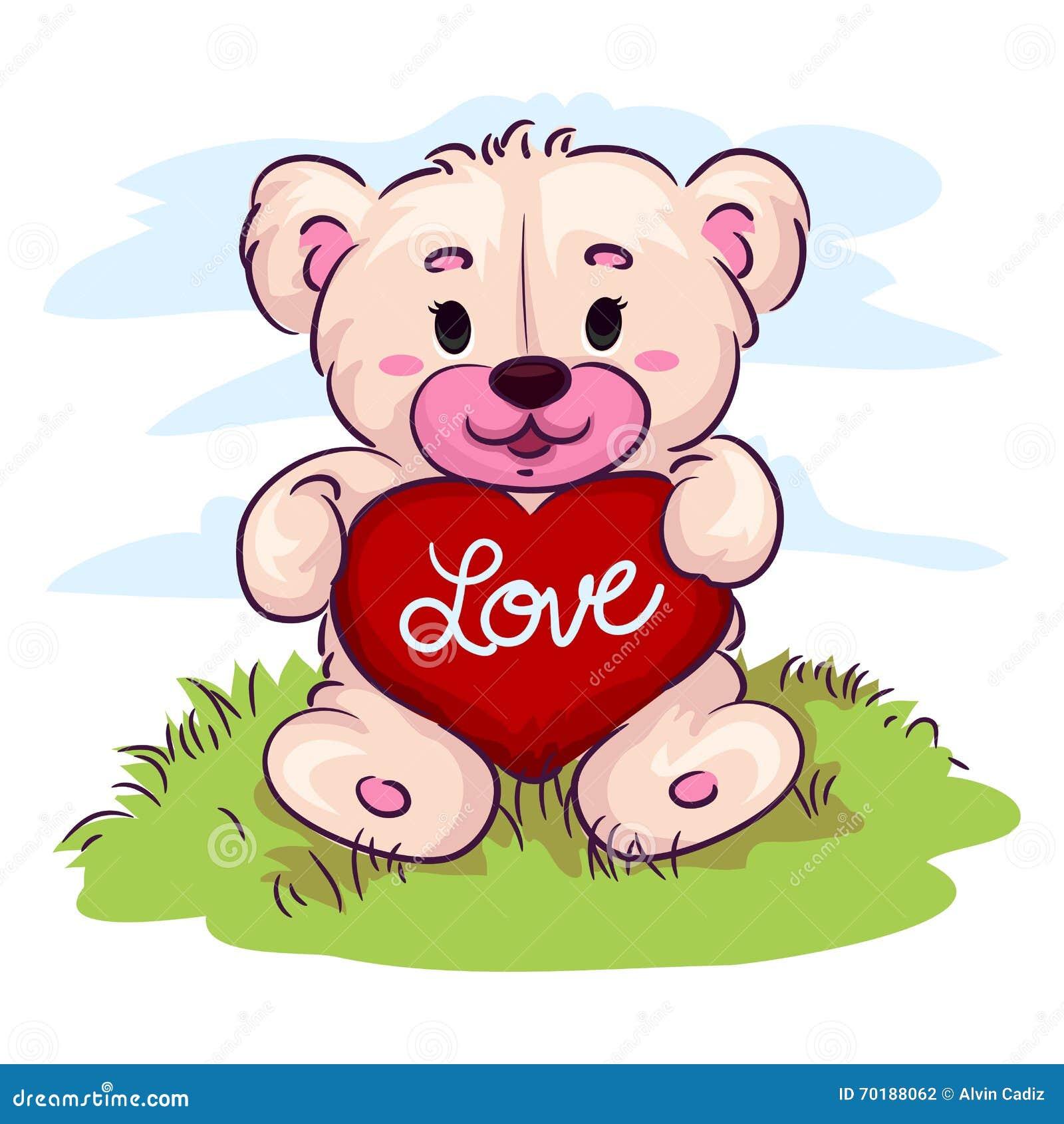 Nalle för björnhjärtaholding