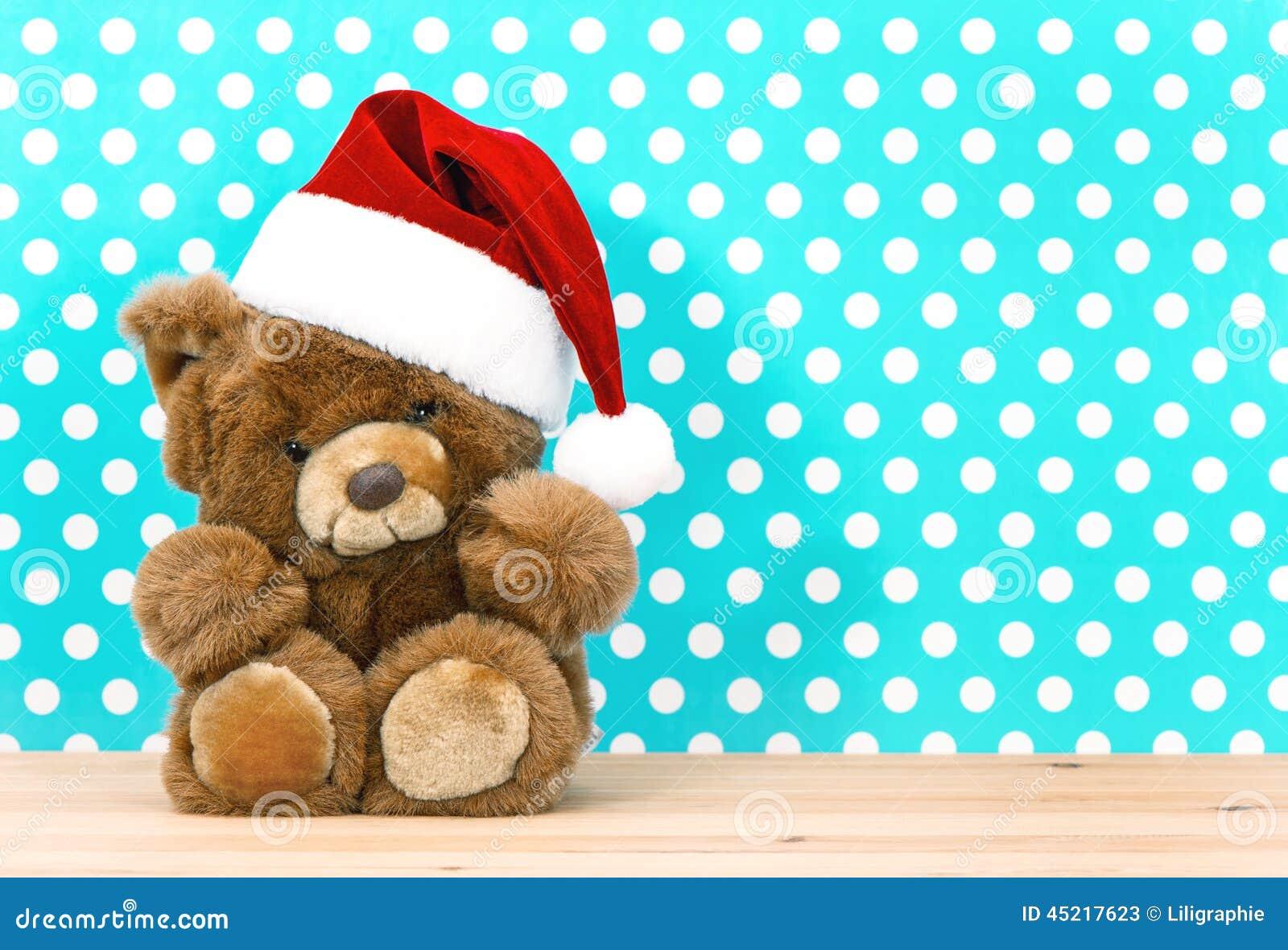 Nallebjörn med jultomten hatt julen dekorerar nya home idéer för garnering till