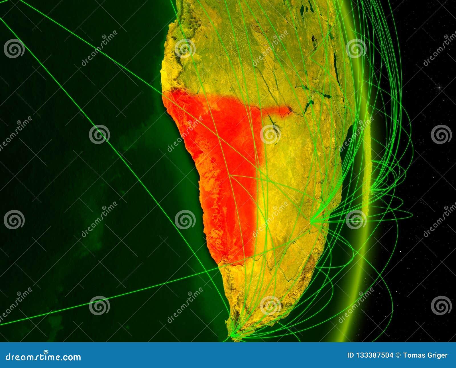 Namíbia na terra digital
