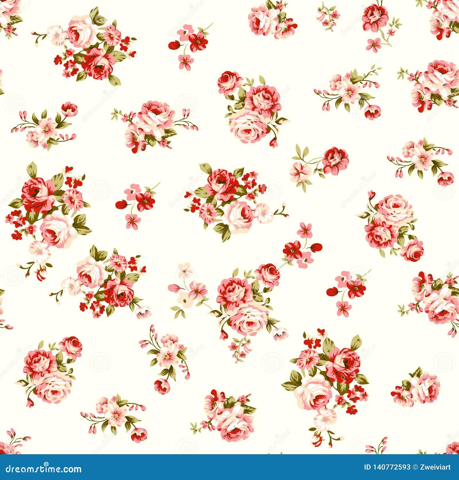 Nam bloemenillustratiepatroon met mooi blad toe